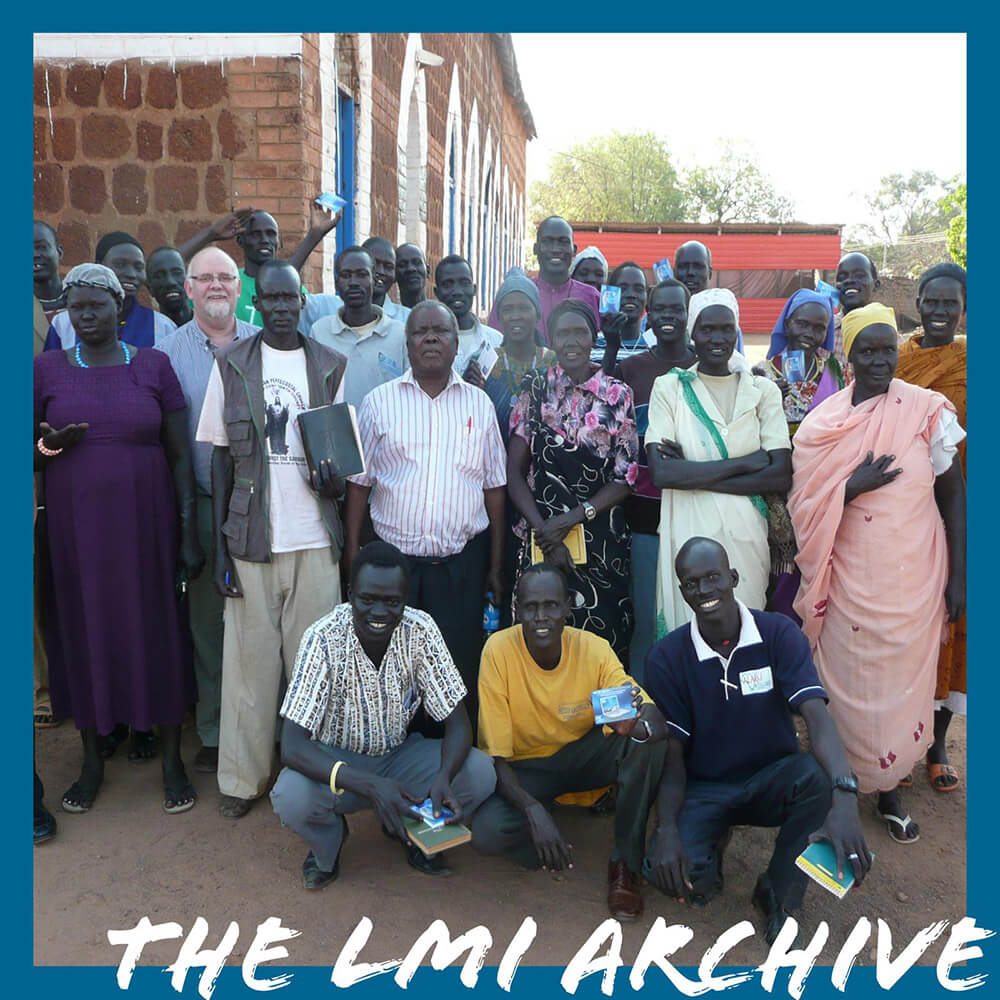 Pastor Josiah and his Church in Kenya in 2011 during an LMI Overseas Mission Trip