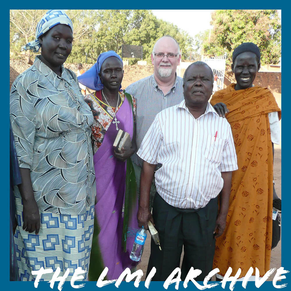 Pastor Josiah with Thomas in Kenya in 2011 during an LMI Overseas Mission Trip