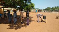 A water station provided by Rev James Baak and his colleagues in South Sudan.