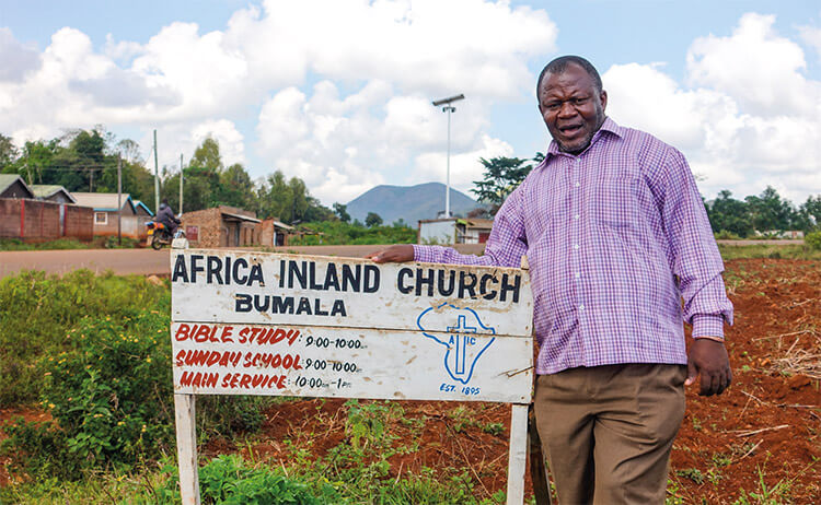 LMI Overseas Coordinator Pastor Eric from Africa Inland Church in Bumala, Kenya.